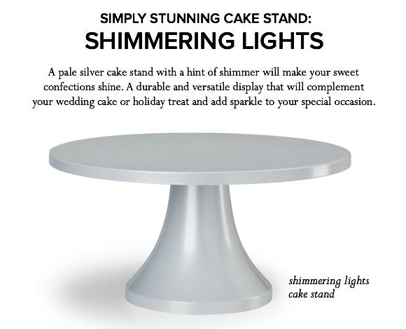 Silver Wedding Cake Stand.