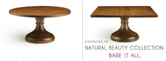 Wood Cake Stands.