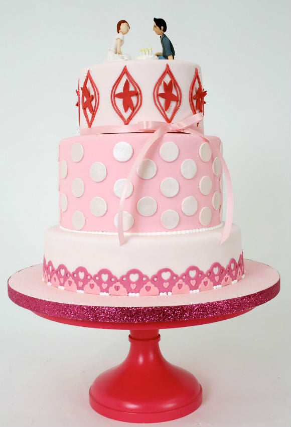 Hot Pink Cake Stand