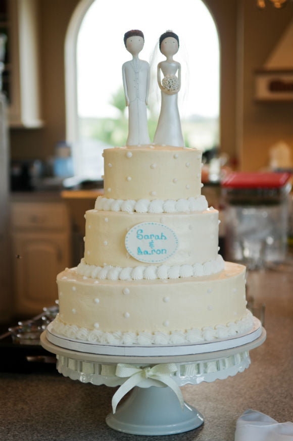 Sarah and Aaron Wedding Cake