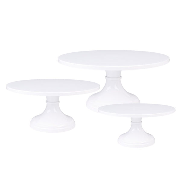 White Wedding Cake Stand Set