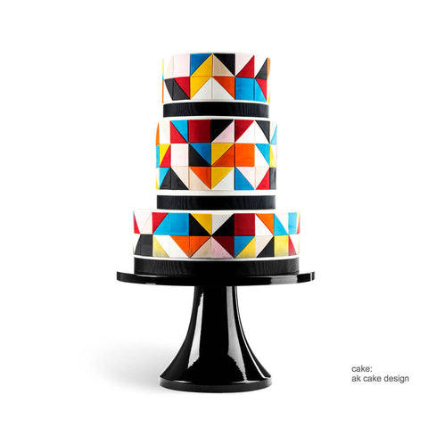Black Tie Affair Cake Stand