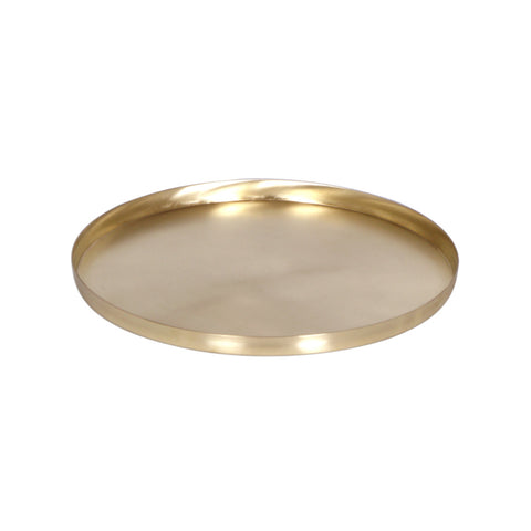 Golden Brass Cake Plate