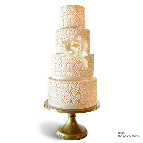 Heart Of Gold Wedding Cake Stands Sarah S Stands