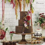 Round Wood Wedding Cake Stand