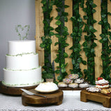 Reclaimed Wood Round Plateau Wedding Cake Stand 6