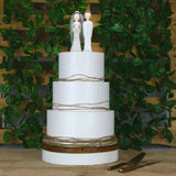 Reclaimed Wood Round Platform Wedding Cake Stand 6