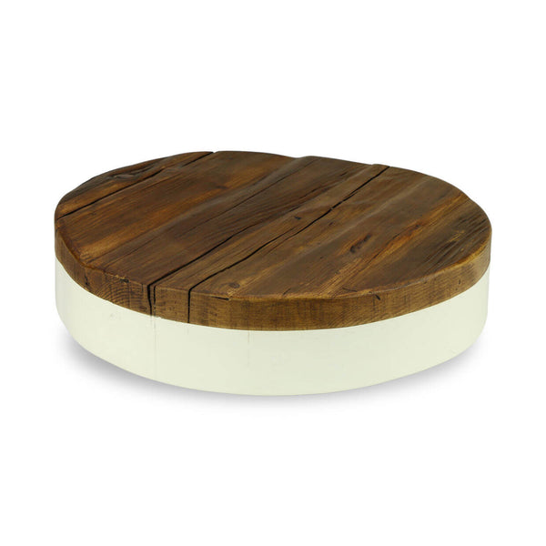 Reclaimed Wood Round Platform Wedding Cake Stand
