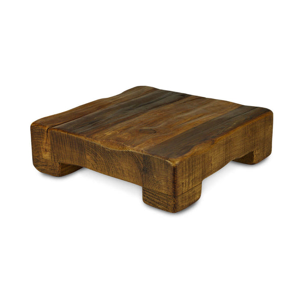 Reclaimed Wood Square Plateau Wedding Cake Stand