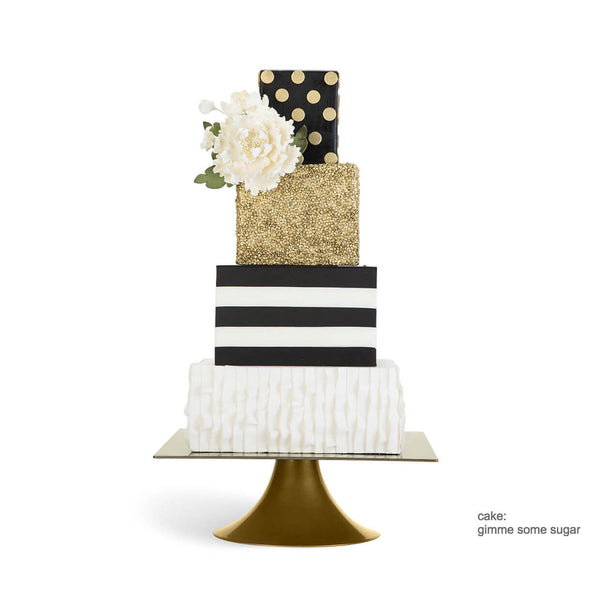 gold and white square wedding cakes square gold 10 inch amp 14 inch wedding cake stands 14742