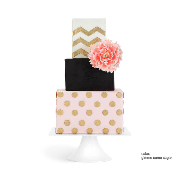 White Square Modern Wedding Cake Stand