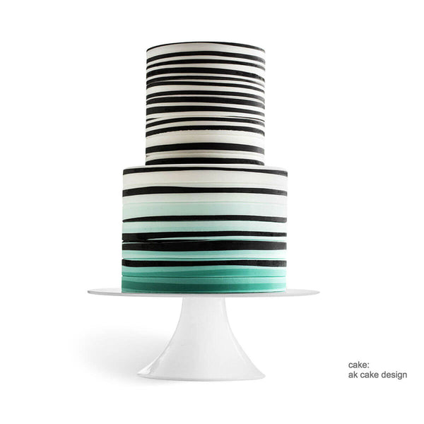 White modern wedding cake stand