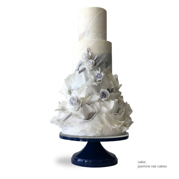 wedding cake little miss perfect navy blue cake stand sarahsstands 2