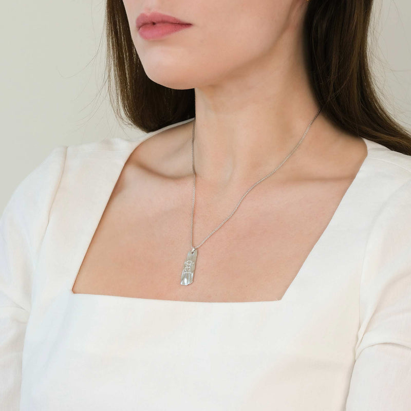 Eternal Secret Silver Talisman Necklace - COMMON ERA