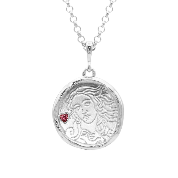 Aphrodite Goddess of Love Necklace with Garnet | Silver - COMMON ERA