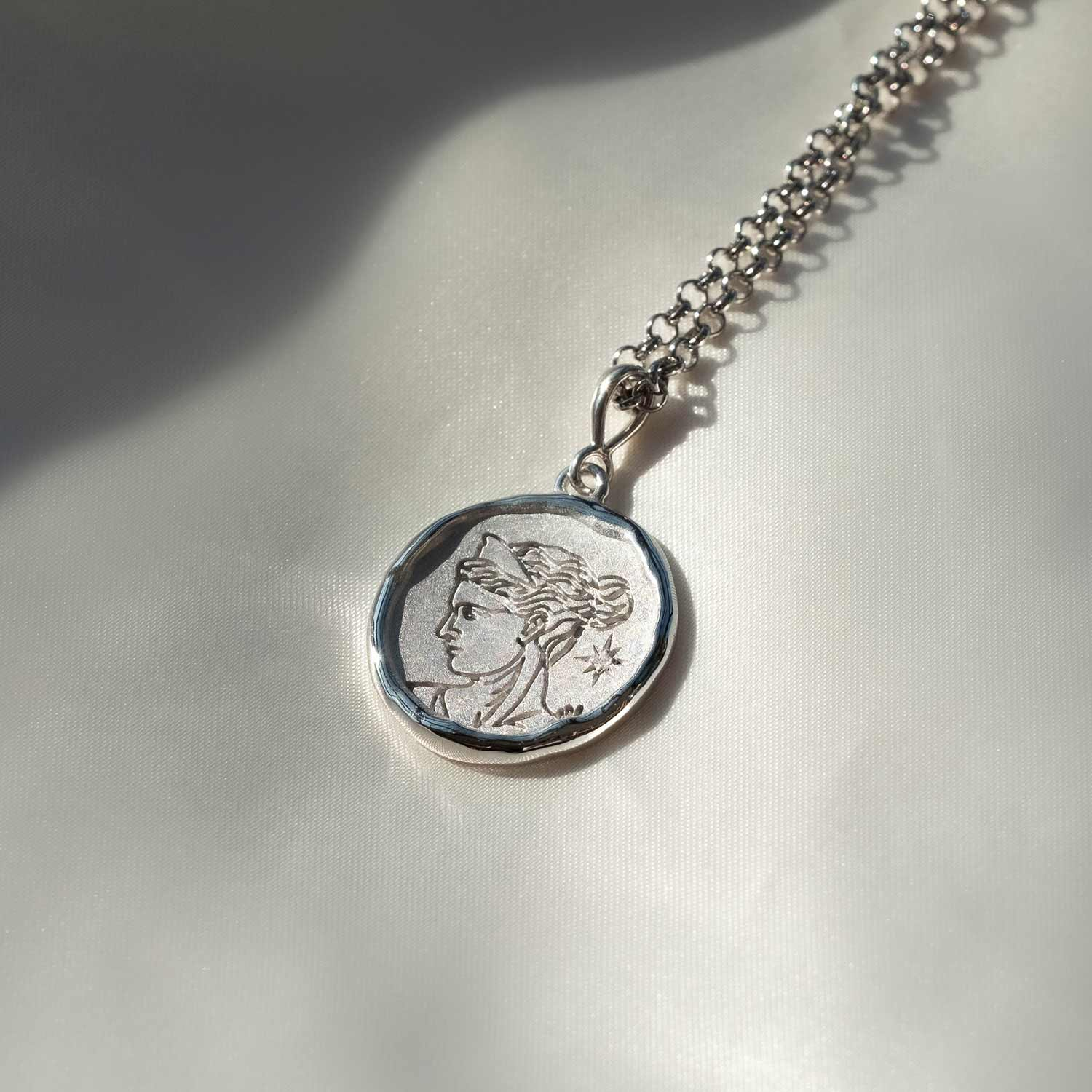 Artemis Goddess of Wild Things Necklace with Diamond | Silver - COMMON ERA