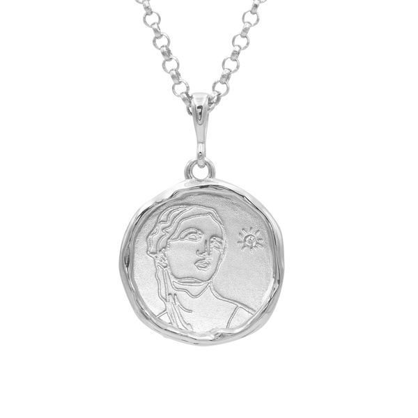 Circe Demi-Goddess of Witchcraft Necklace with Diamond | Silver - COMMON ERA