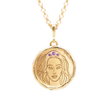 Hecate Goddess of Magic Triple Amethyst Medallion Necklace - COMMON ERA
