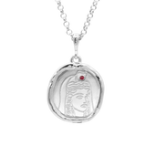 Persephone Goddess of Spring Necklace with Ruby | Silver - COMMON ERA