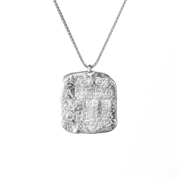 Magic Sator Square Silver Talisman Necklace - COMMON ERA