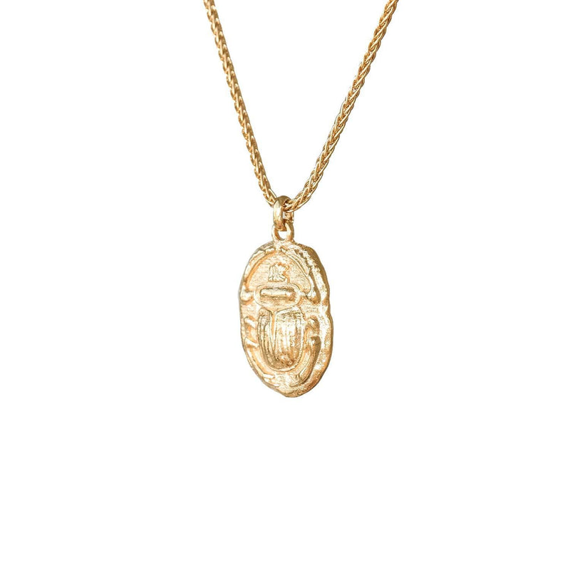 Ancient Scarab Gold Talisman Necklace - COMMON ERA