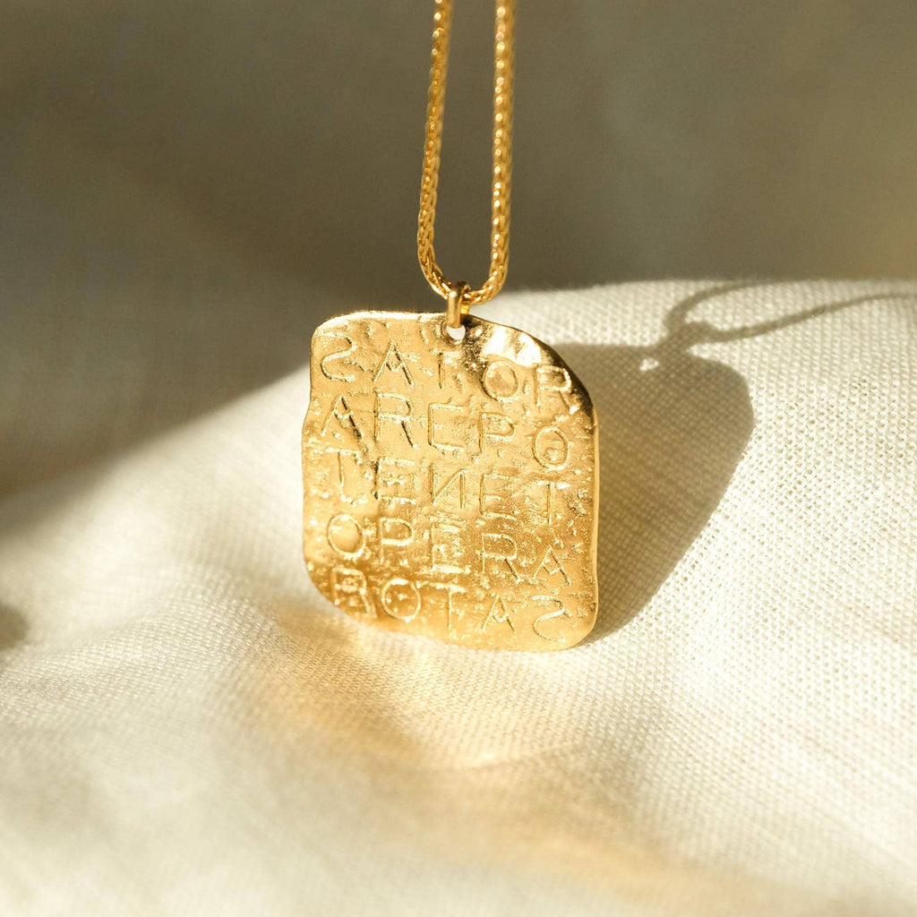 Magic Sator Square Gold Talisman Necklace - COMMON ERA