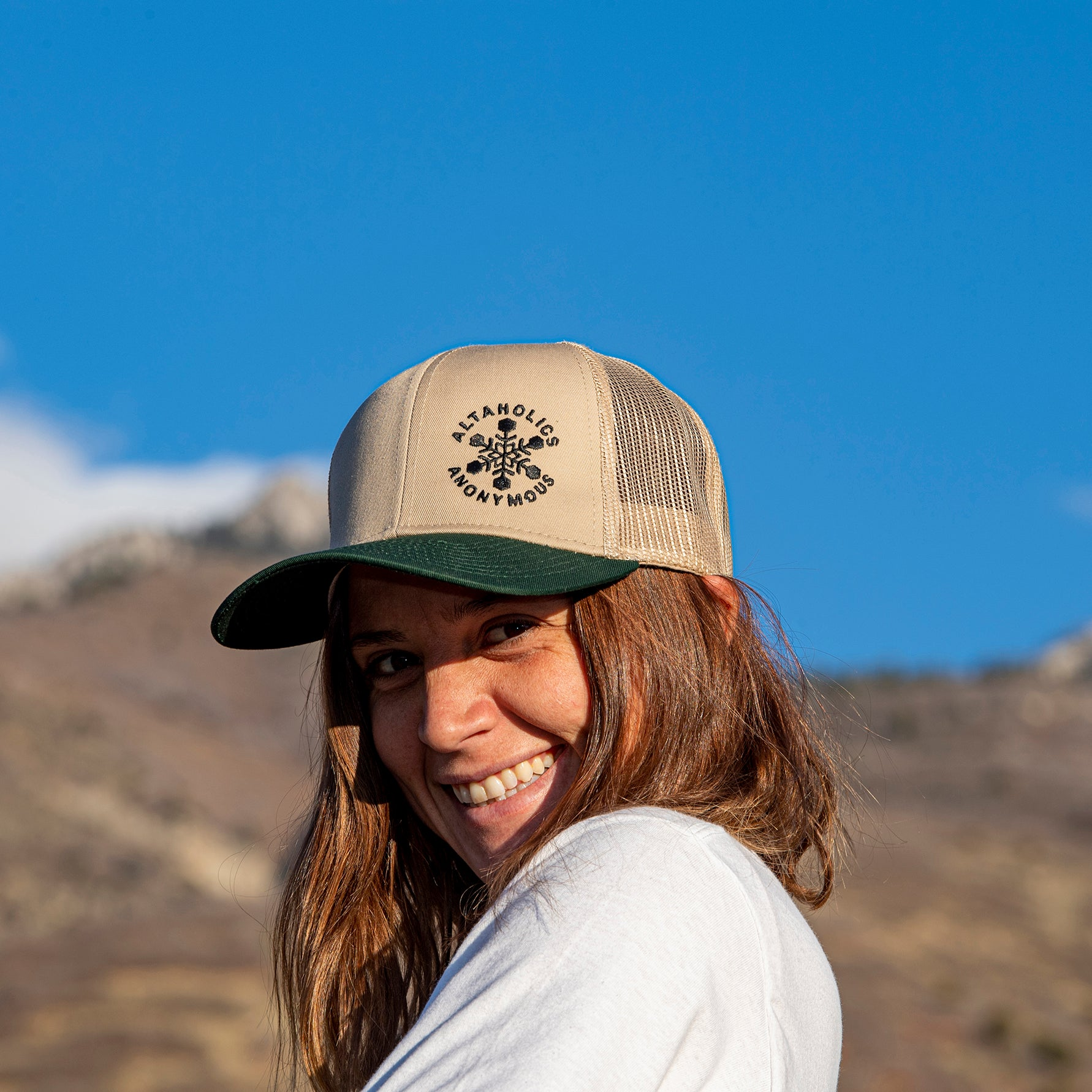 Altaholics Tan Trucker Hat - Mesh Back
