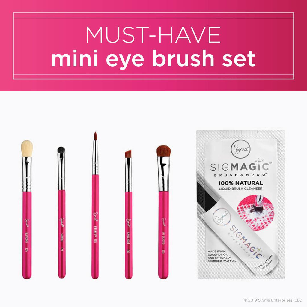 SIGMA - MUST HAVE MINI EYE BRUSH SET - EXCLUSIVE