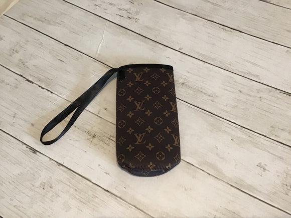 LV WATER BOTTLE KOOZIE WITH STRAP