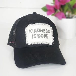 KINDNESS IS DOPE PATCH TRUCKER CAP