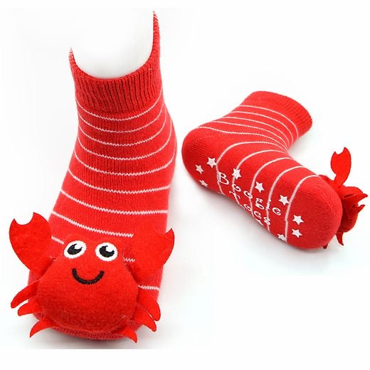 Red Crabbie Boogie Toes Rattle Socks