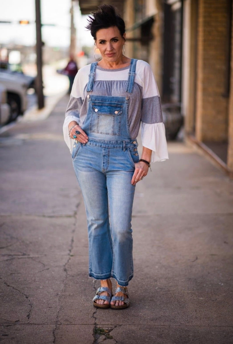 Taking a Stroll Denim Overalls