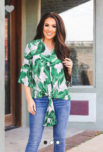 PALM LEAF KNOTTED TOP (L&B)