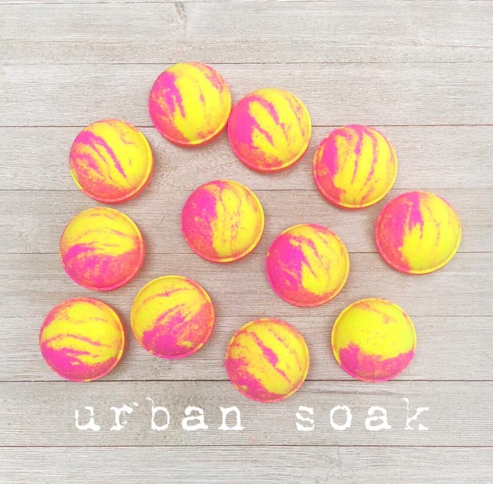 URBAN SOAK 5oz BATH BOMBS (Urban Oasis)