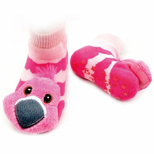 Flamingo Boogie Toes Rattle Socks