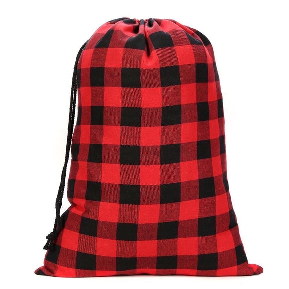 Santa Sacks - Buffalo Plaid Red