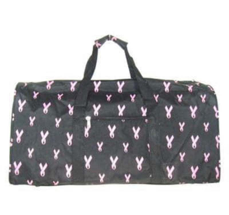 💗 NO ONE FIGHTS ALONE 💗 BREAST CANCER AWARENESS DUFFLE TRAVEL BAG