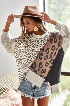 THE MADELYN LEOPARD TUNIC