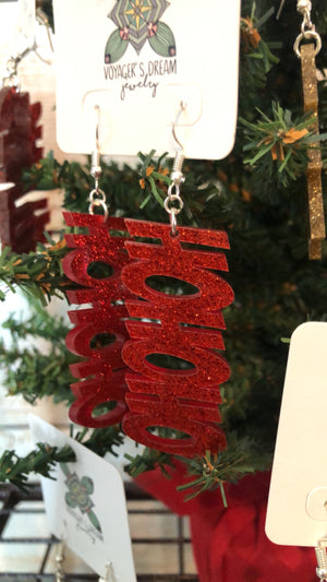CHRISTMAS ACRYLIC EARRINGS