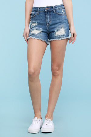 JUDY BLUE PLUS SIZE SHARON SHORTS