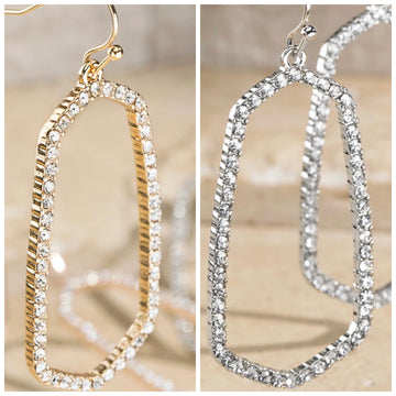 PAVE OVAL EARRINGS