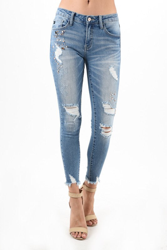 GLITZY GIRL BLING KAN CAN JEANS