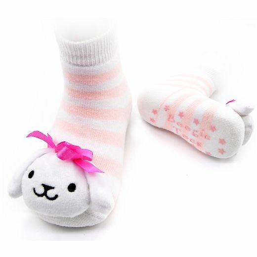 Pink Puppy Boogie Toes Rattle Socks