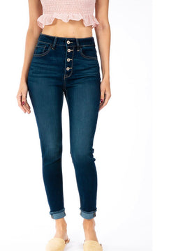 KANCAN SUPER STRETCH BUTTON FLY BEVERLY JEANS