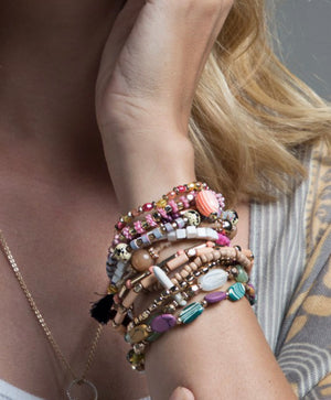 PINK SUMMER STACK BRACELET SET