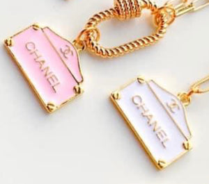 PINK CHANEL HANDBAG LOCKET CHAIN