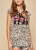 THE SAVANNAH JANE CHEETAH FLORAL TOP