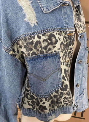 THE DOUBLE TAKE DENIM AND LEOPARD JACKET