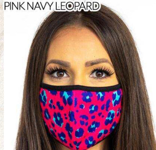 L&B FABRIC MASK (HOT PINK LEOPARD)