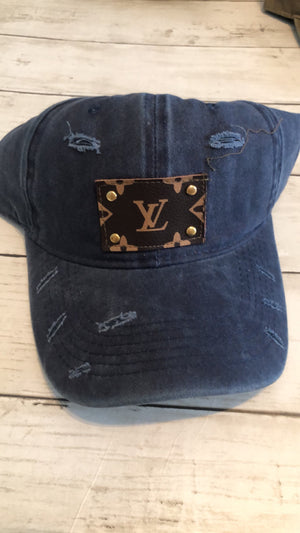 UPCYCLED LV PATCH CAPS - NAVY